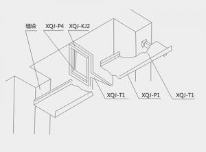 导板框架的使用安装示意图