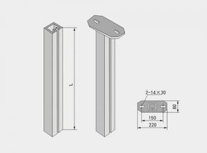 异钢立柱XQJ-H-01E型
