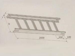 梯级式直通桥架XQJ-T1-01型